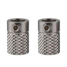 2 pçs de aço inoxidável serrilhado 3d impressora extrude unidade engrenagem alimentador roda furo 5mm para ultimaker2 um2