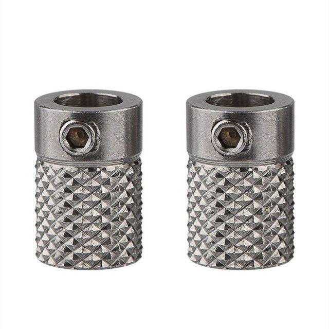 2 pièces en acier inoxydable moleté 3D imprimante Extrude entraînement engrenage chargeur roue alésage 5mm pour Ultimaker2 UM2