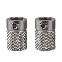 2Pcs Edelstahl Gerändelt 3D Drucker Extrudieren Stick Getriebe Feeder Rad Bohrung 5mm für Ultimaker2 UM2