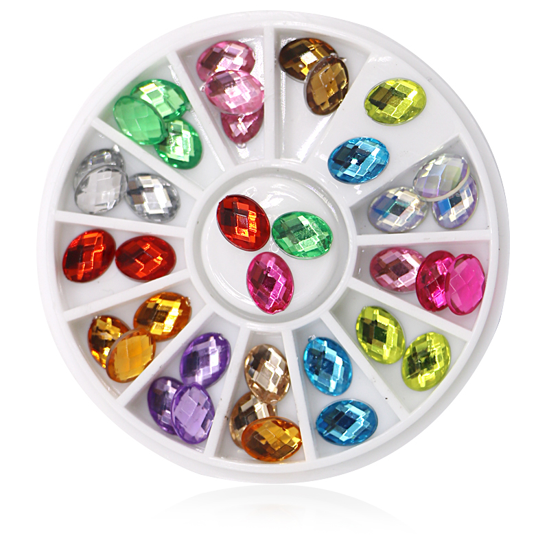 Rhinestone Nail-Tips 3d-Decoration Glitter Crystal Nail-Design-Supplies for 1pcs