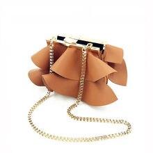 97383e4b5 Mulher Bolsas 2018 moda ondulado rendas requintado projeto mulheres  shoulder bag brown PU de couro Mulheres