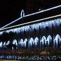 4 M 96 leds luz do sincelo do DIODO EMISSOR de luz Festa Em Casa Natal Decoração AC 220 v/110 V Cortina De Casamento De Fadas guirlandas Luzes da corda