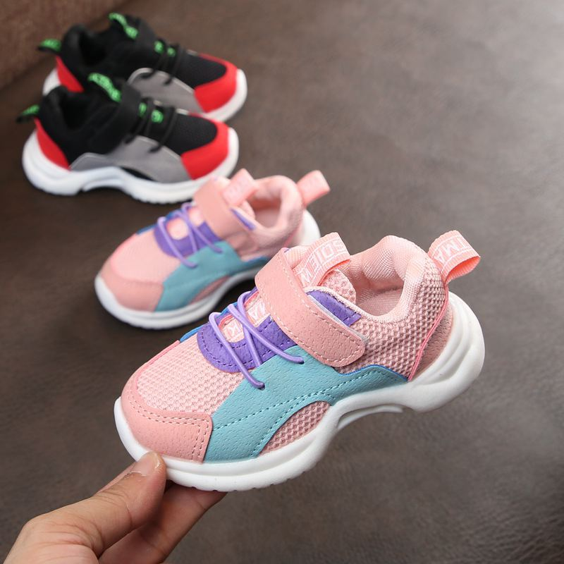 AFDSWG spring and autumn mesh pink shoes children girl black casual sport shoes boys kids running shoes ,school girl shoes