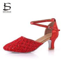 ef6d839abe 2017 Nova Ladies Latino Sapatos de Dança Red Oco Alta-salto alto Sapatos de  Dança Para As Mulheres Ballroom Tango Salsa Toque .