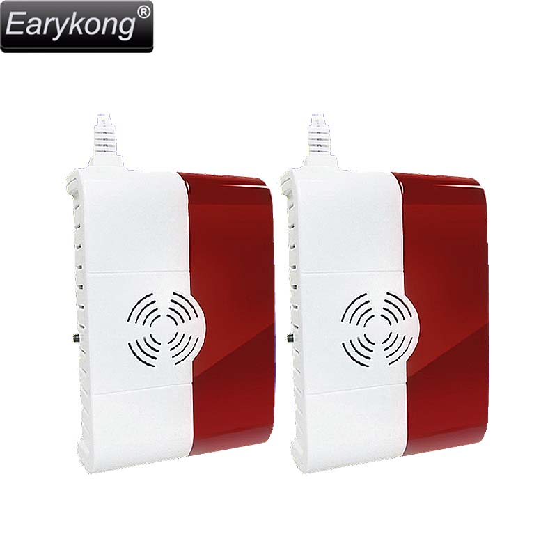 Free shipping Wireless home security alarm System High quality hot 2pcs 433Mhz Gas detector for Wireless GSM Alarm System diyseucr qg 02 wireless gas sensor for our related home alarm home security system 433mhz gas detector