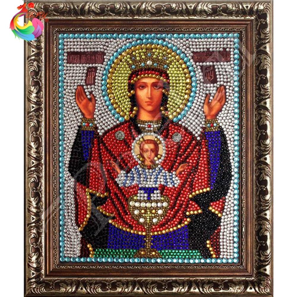 Diamante pintura punto de cruz Bordado Diamante Europa decoraci/ón del hogar taladro mosaico de diamante Jes/ús Sagrado Coraz/ón 30x40 cm