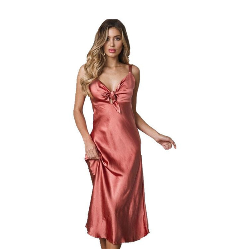 2019 Summer Women Sexy Lingerie Nightdress Plus Size Slik Satin   Nightgown   Long Night Dress Nightwear Female   Sleepshirt   Sleepwear