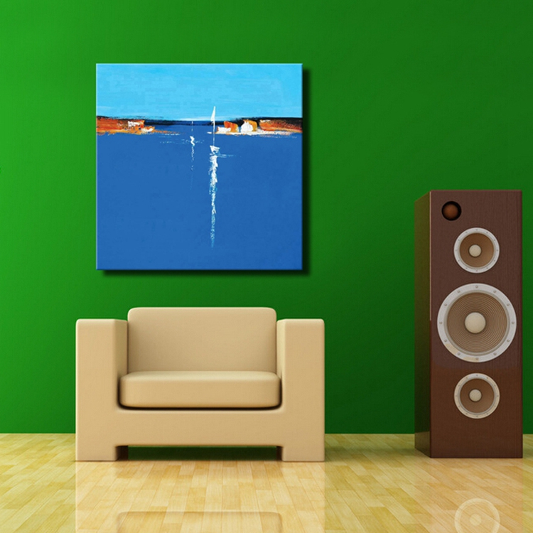 simple abstract paintings blue abstract seascape oil paintings hand painted abstract