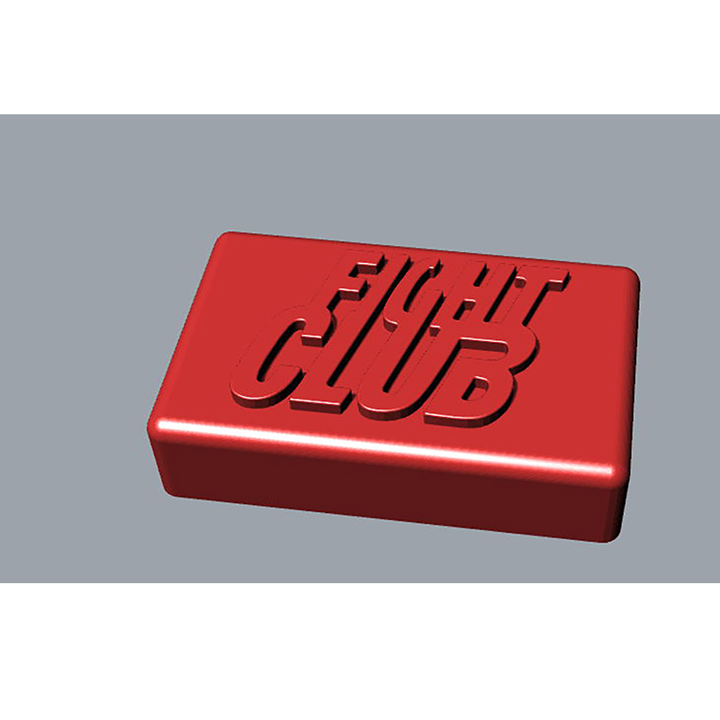 Fight Club Word Rectangular Handmade Soap Molds Fondant Cake Decoration Resin Clay Molds Aroma Stone Moulds Flexible Soap