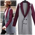2017 New Fashion Women Blazers Autumn Elegant Ladies Suits Slim Full Sleeve Patchwork Europe Style Hot Knitted Coat Plus Size