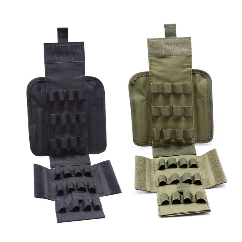 Tactical Universal Molle 25 Round 12GA 12 Gauge Ammo Shells Reload Magazine Pouches Military Molle Hip Waist Belt Bag Wallet in Pouches from Sports Entertainment