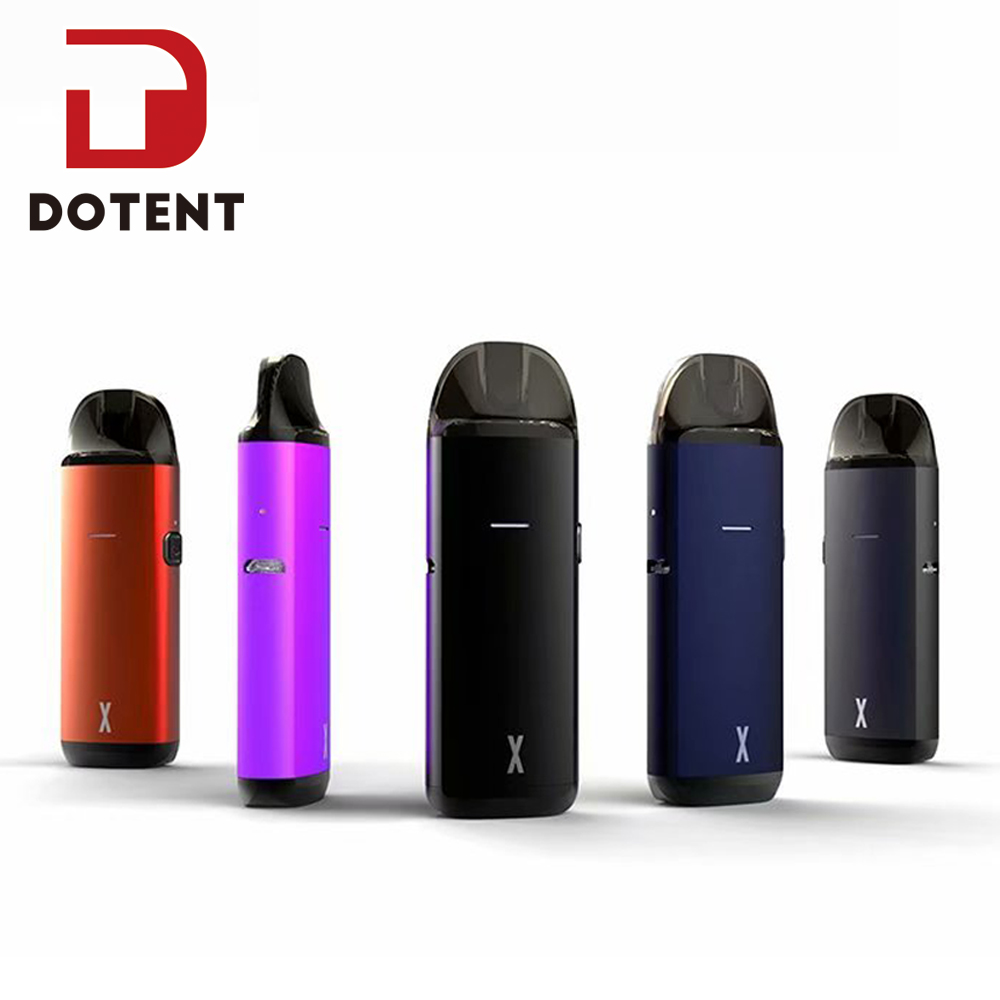 DOTENT MRPOD X Electronic Cigarette Starter Kit 750mah Built In Battery 2ml Pod Vape Cartridge 1.0ohm Replacement Coils Pen