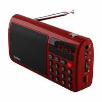 Altavoz de Radio Estéreo Rolton T50 portátil banda mundial FM/MW/SW reproductor de música Mp3 tarjeta SD/TF para ordenador iPod