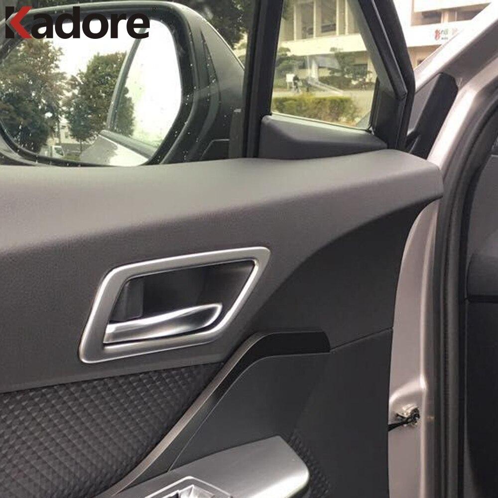 For Toyota CHR C-HR 2016 2017 2018 ABS Matte Car Interior Door Handle Cover Trim Door Bowl Stickers Decoration Auto Accessories