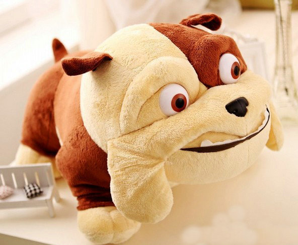stuffed plush 45 cm dog bulldog plush toy w787