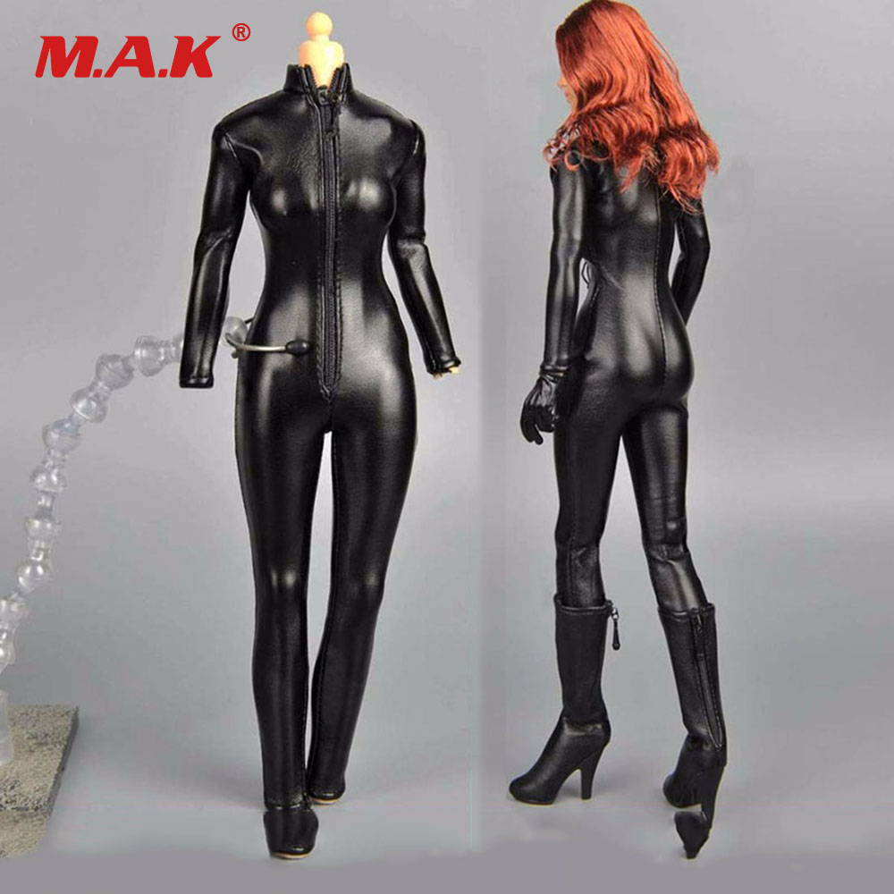 1/6 Scale Woman Clothing 12 Figure Clothes Black Female Jumpsuit Leather Corsetry for 12 Action figures Bodies  Accessories1/6 Scale Woman Clothing 12 Figure Clothes Black Female Jumpsuit Leather Corsetry for 12 Action figures Bodies  Accessories