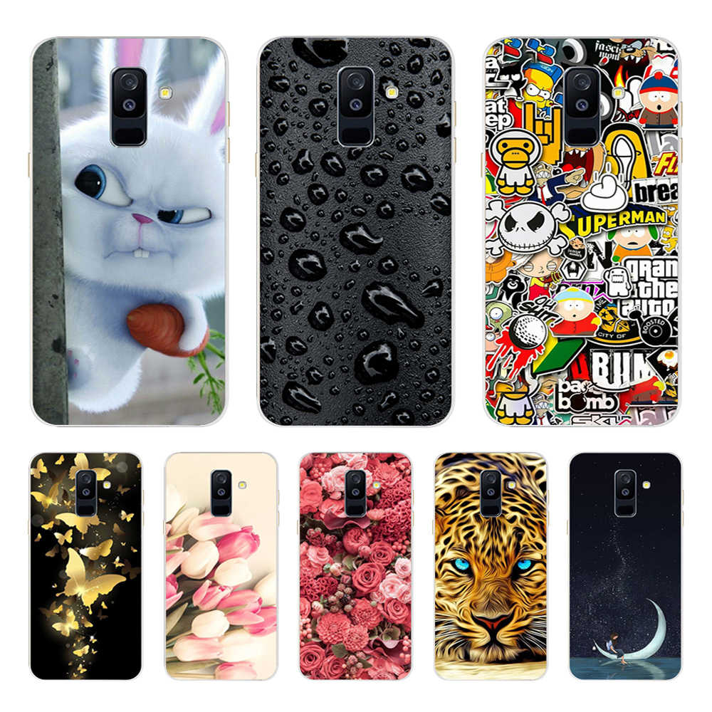 For Samsung Galaxy A6 2018 Case 5.6' Soft Silicone Phone Cover Cases for Samsung A 6 Plus 2018 A 600 610 F Phone Bag Funda Coque