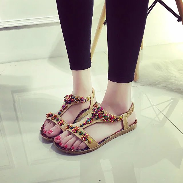 Summer Women Sandals 2017 Gladiator Sandals Women Shoes Bohemia Flat Shoes Sandalias Mujer Ladies Shoes New Flip Flops summer style ankle tie flat sandals crosscriss rome boho gladiator sandals women flip flops casual shoes woman sandalias mujer