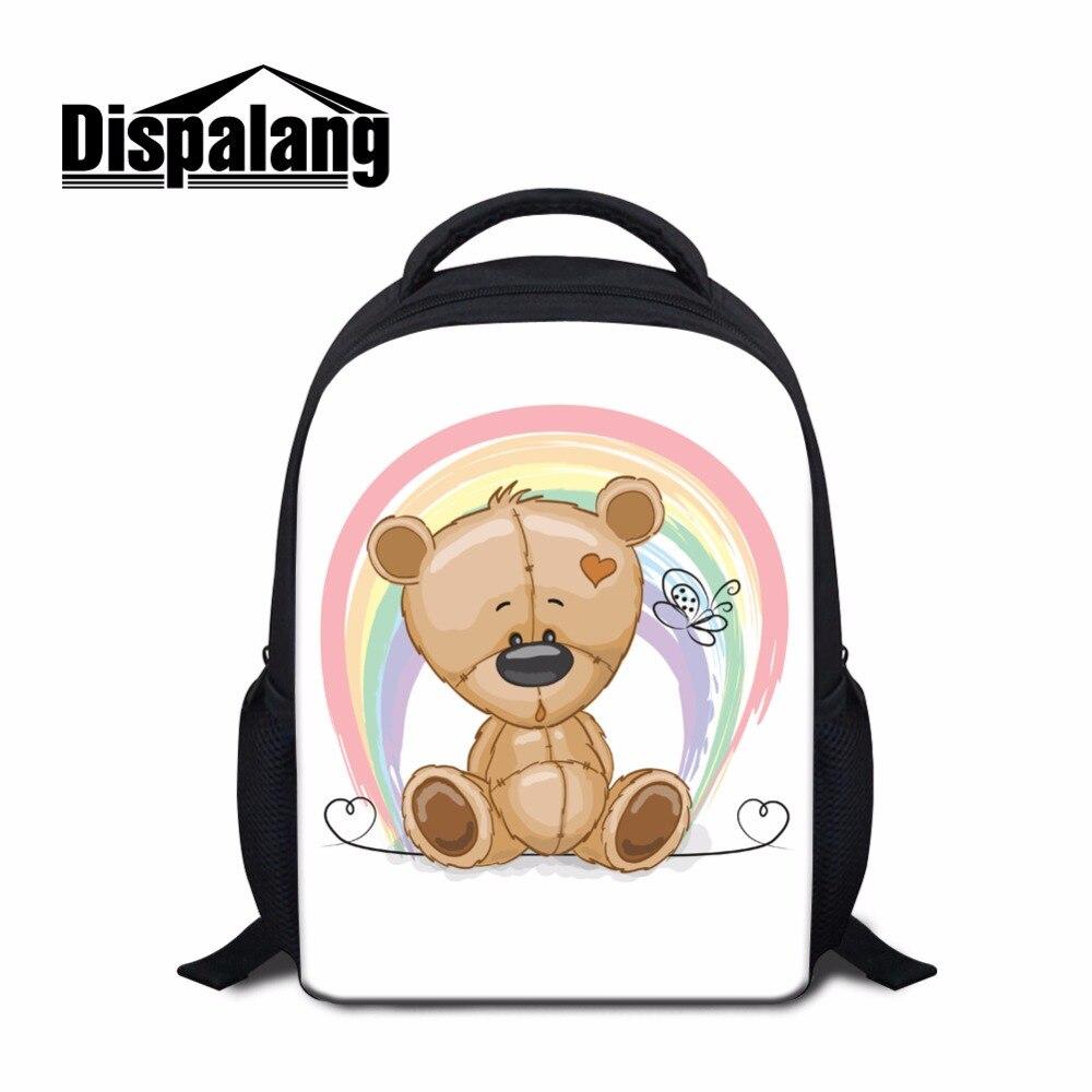 Dispalang 12 inch Mini Bear backpack for Kids Cute Cartoon Bookbags Girly Rucksack Small Schoolbag Bagpack for Girls Mochilas