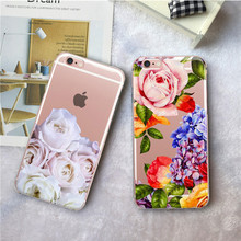 Flower Silicone Phone Case For iPhone 7 8 Plus XS Max XR Rose Floral Cases For iPhone X 8 7 6 6S Plus 5 SE Soft TPU Cover цена и фото