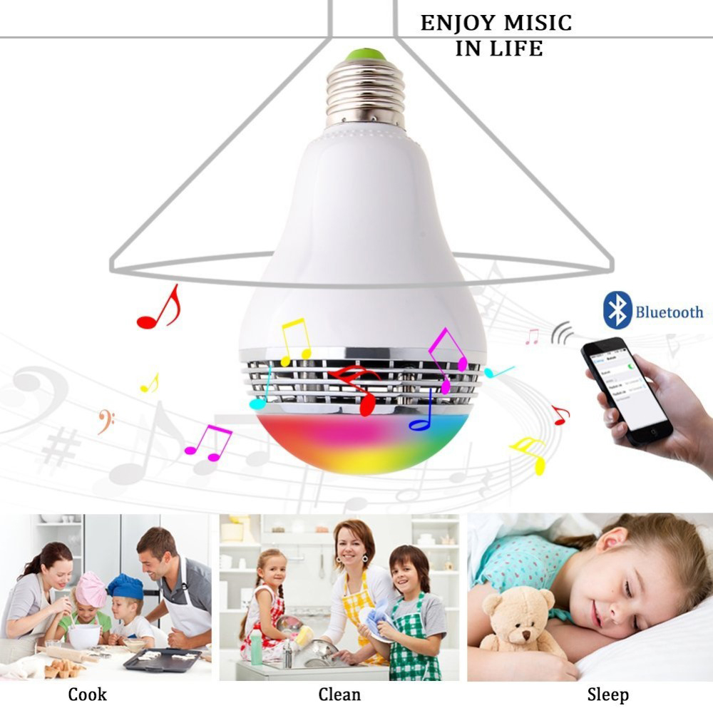 Lâmpadas Led e Tubos controle Feature : Wireless , bluetooth Speaker Bulb