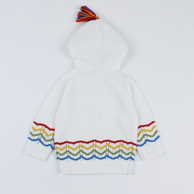 Autumn Baby Sweaters for Girls Cardigan Winter Warm Toddler Boys Knitted Tops Long Sleeve Newborn Infant Jacket Children Clothes
