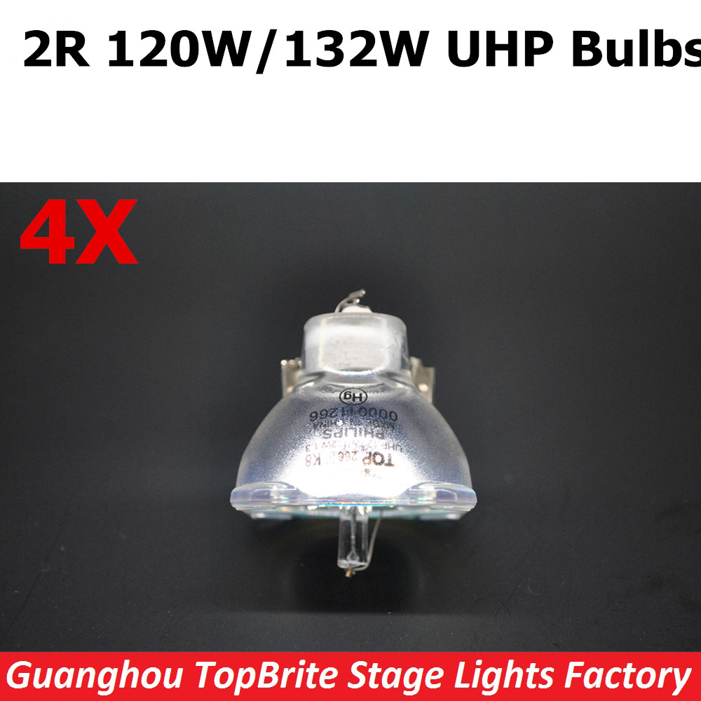 Free Shipping 4XLot 120W/132W Lamp 2R UHP Halogen Bulb For Beam 120W Sharpy Moving Head Beam Light Bulb DJ Disco Stage Lights whirlpool adpf 872