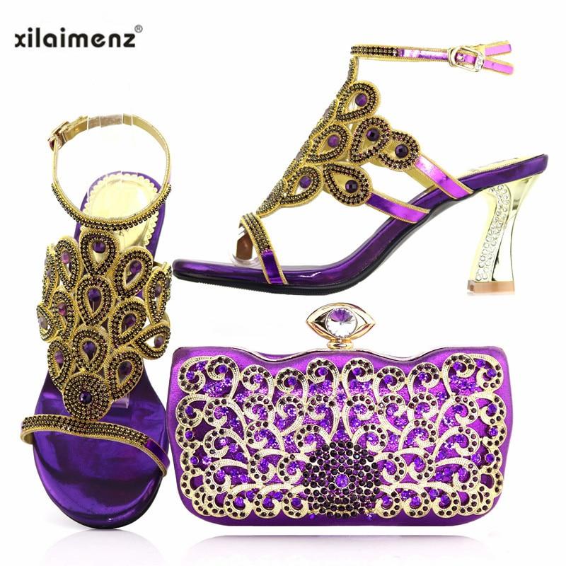 Nouvelle Le 2018 Strass Mariage Pour Avec gold 40Remise Chaussures Italiennes Sac Assorti red Royal Brillant Boutique Dames Cristal Blue purple Rouge QrotCsdxBh