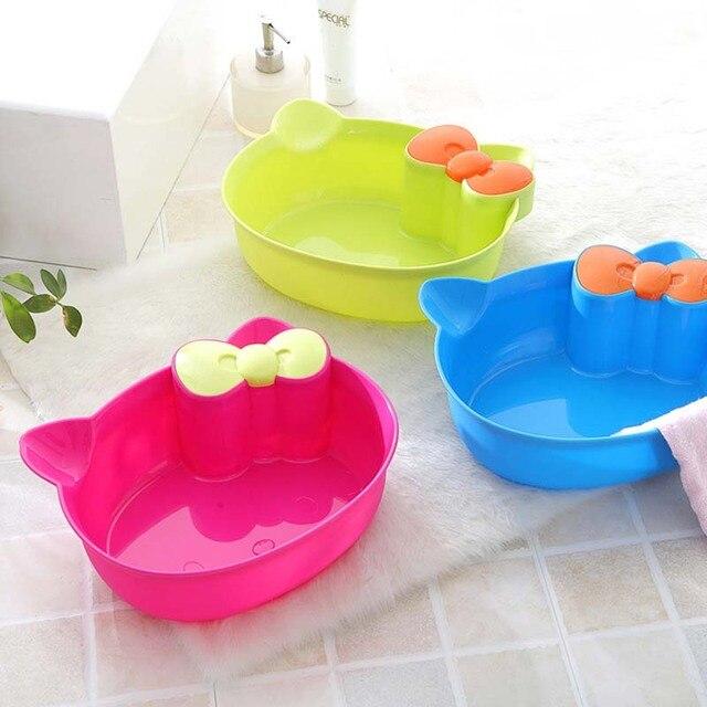 Baby Waschen Becken Fuß Badewanne Cartoon Gesicht Becken Washtub