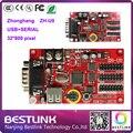 Módulo led p10 única cor levou placa do sinal mensagem ZH-U0 LED controller card 32*800 PIXEL para Display LED painéis