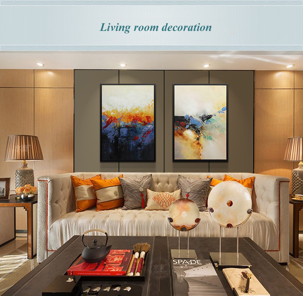 Decoration Murale Design Salon Us 42 14 14 Off Muya Abstract Painting Large Canvas Wall Art Tableau Decoration Murale Salon Wall Pictures For Living Room Modern Oil Painting In
