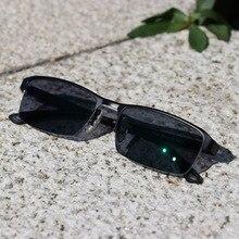 Lunettes photochromiques pour hommes, lunettes de lecture pour myopie presbyte, lunettes à la mode carrées avec demi jante, nouvelle qualité, KJDCHD