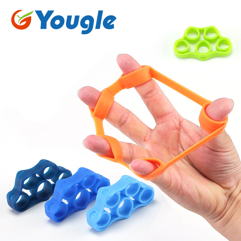 Silicone Ring 3 Levels Finger Hand Grip Ring Gripper Strengthener Exerciser Trainer Resistance Band Fitness Expander Stretcher