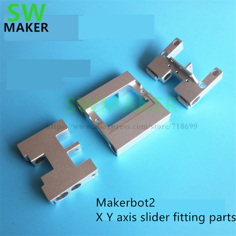 Metal Heating Block Mounting 74mm Part For CTC//Flashforge//Makerbot Dual Extruder