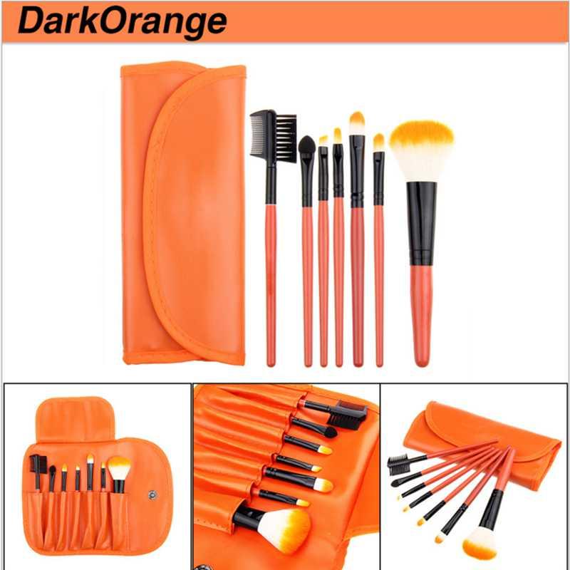7 pcs cabelo sintetico profissional peixe especial punho plastico cosmetic make up brush kit makeup brushes
