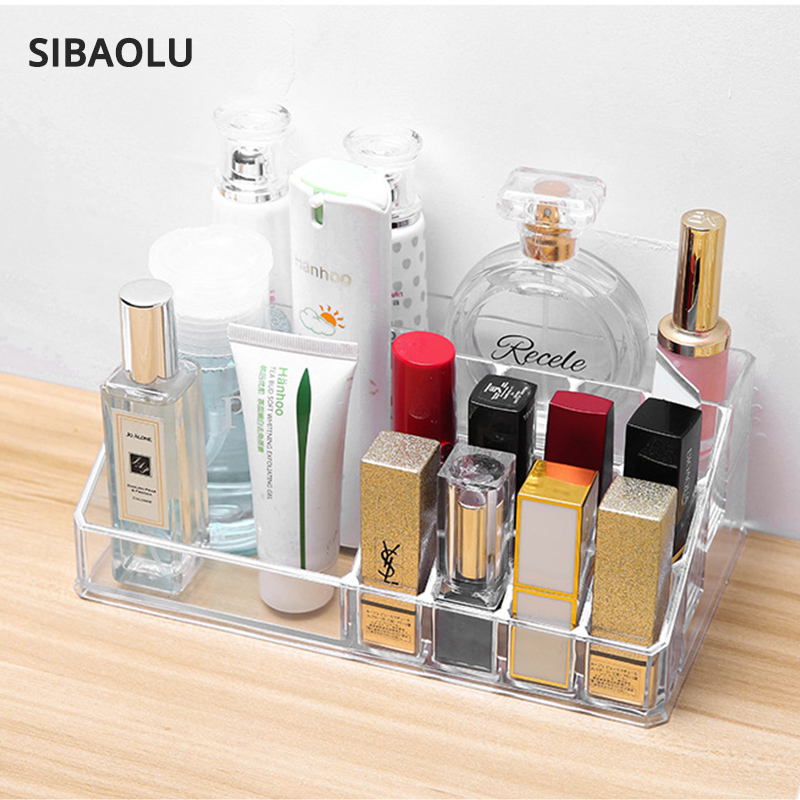 Engros 2 størrelser gennemsigtig akryl makeup organizer skuffe opbevaringskasse for børster ...