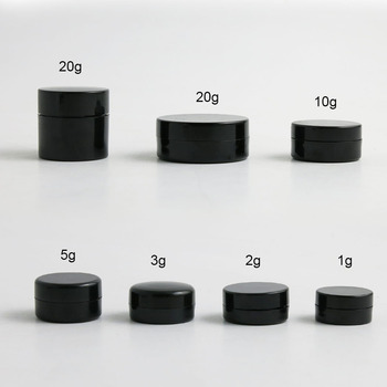 10 x 1g 2g 3g 5g 10g 20g Portable Small Jars Pot Box Makeup Nail Art Cosmetic Bead Storage Container Black Travelling Cream Jar