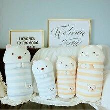 Creative Cute Cat Bear Short Plush Toy Stuffed Animal Doll Toys Soft Pillow Baby Children Birthday Gift