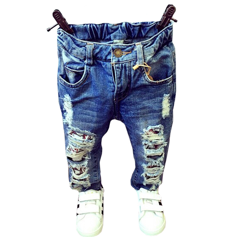 New 2018 Baby Girls Boys Jeans Fashion Broken Hole Kids Jeans For Girls 1-7Yrs Kids Boy Denim Pant Kids Trousers Clothes