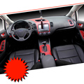 Car-Styling Brand New Car Interior Center Console Color Change Carbon Fiber Molding Sticker Decals For Kia K3