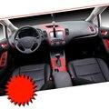 Carro-Styling Novíssimo Console Central Do Interior Do Carro Mudança de Cor De Fibra De Carbono Decalques Adesivo de Moldagem Para Kia K3