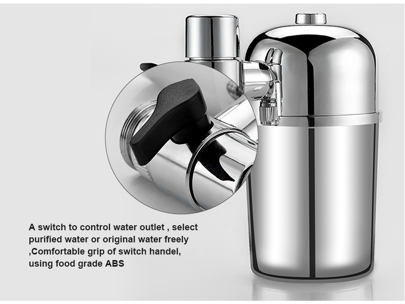 Tap Water Purifier Filled with Activated Carbon to Retain Beneficial Minerals and Remove Impurities 10