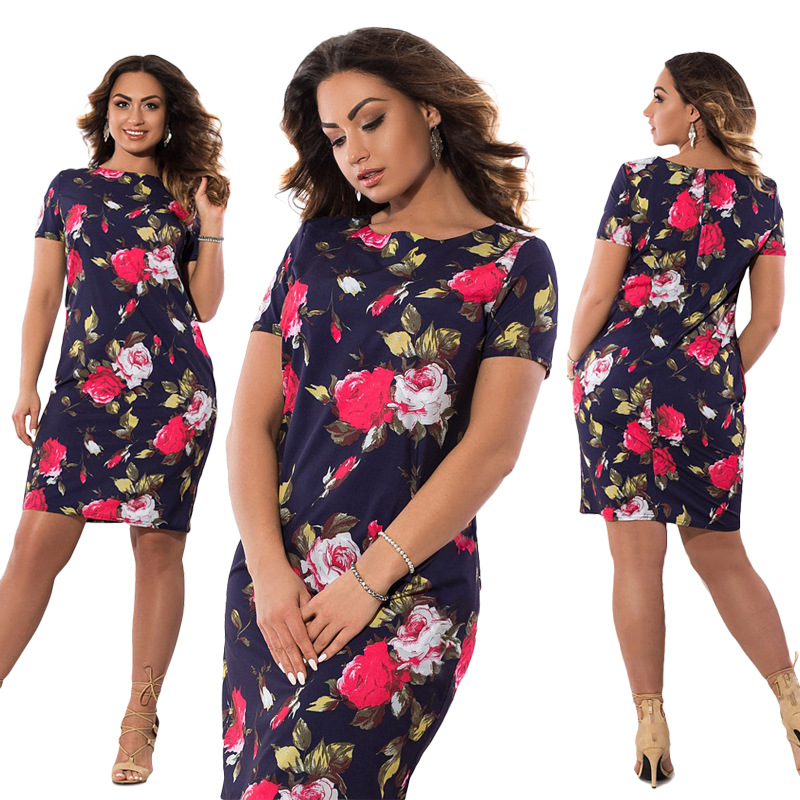 HTB1LpKMXf HK1JjSszhq6ycIVXaU 2019 Autumn Plus Size Dress Europe Female Fashion Printing Large Sizes Pencil Midi Dress Women's Big Size Clothing 6XL Vestidos