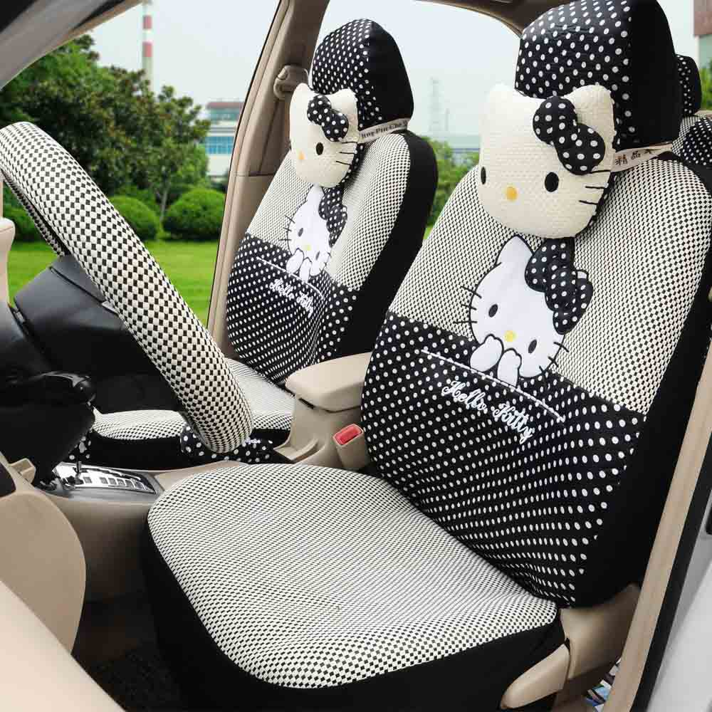 Hello Kitty 18 Black Universal Car Interior Seat Covers Beautiful Soft Truck 1787 In Automobiles From Motorcycles On
