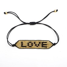 Shinus MIYUKI Bracelet Women 10pcs/lot Love Pulseras Mujer 2019 Couple Bileklik Miyuki Design Loom Bijoux Boho Handmade Jewelry