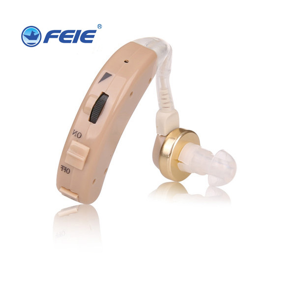 Feie best selling products cheap analog hearing aid bte sound amplifier with clear sound ear hearing machine S-8A Free Shipping