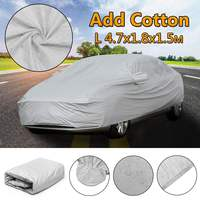L Full Universal Car Cover Cotton Waterproof Breathable Rain Snow Protection Anti Scratch