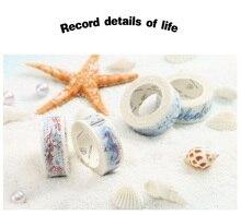 24 pcs/Lot Starry night Sea moon washi tape 15mm*7m Decorative Starry night masking tapes sticker stationery FJ165 the starry night the starry sea chinese edition