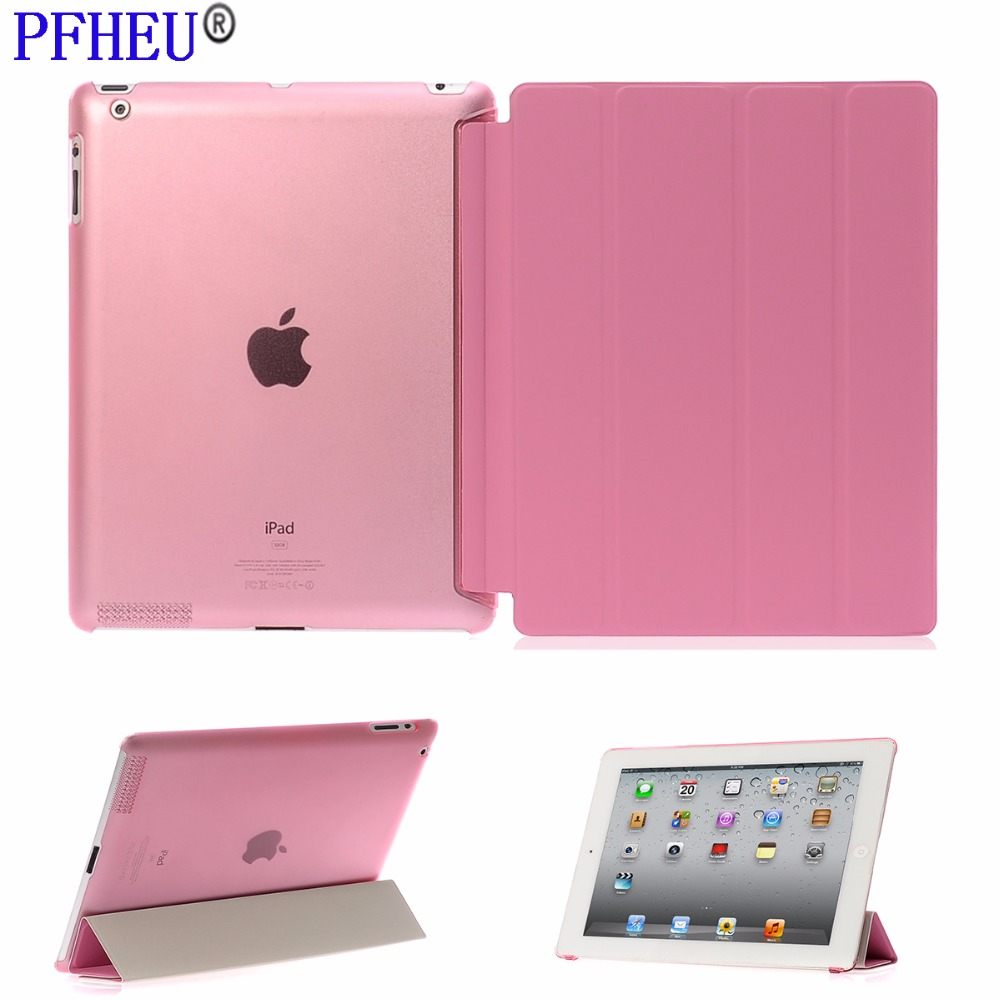 Tablet Case for Apple iPad 2 3 4, Ultra Slim PU leather+Hard TPU Silicon Back Stand Flip Smart case for iPad 3 iPad2 iPad4 Cover ocube tri fold ultra slim tpu silicon back folio stand holder pu leather case cover for apple ipad 6 ipad air 2 9 7 tablet