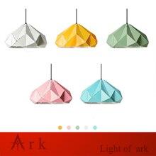 Modern Art colorful painted diamond shape Pendant Lamps Classic  Dining Room Bar restaurant Light  show room цена